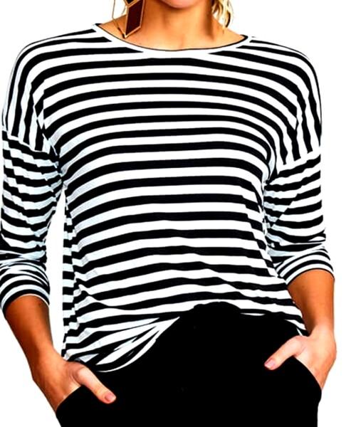 Blusa Feminina com proteção UV Sport Listras