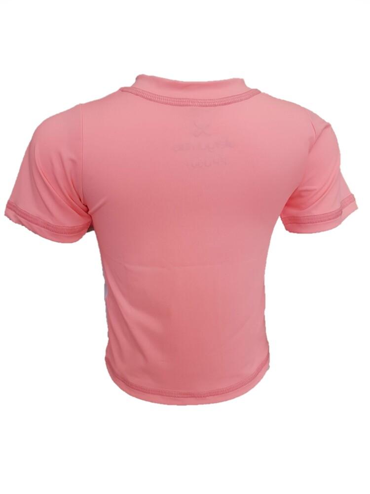 Camiseta Infantil Branca e Rosa