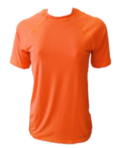 Camiseta Raglan Laranja Feminino